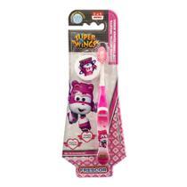 Escova Dental Infantil Frescor Super Wings Dizzy 2 a 5 Anos Macia Cores Sortidas 1 Unidade + Capa Protetora -