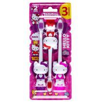 Escova dental infantil hello kitty  3 unidades -