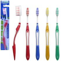 Escova dental macia com protetor de cerda colors - kit com 12 - Etident