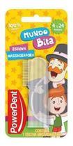 Escova Dental Massageadora Infantil 4 A 24 Meses Mundo Bita Powerdent -