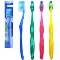 Escova dental media com protetor de cerda colors - kit com 12 - Etident