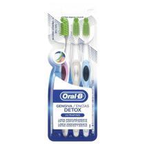 Escova Dental Oral-B Detox da Gengiva com 3 Unidades - Oral B -