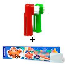 Escova Dentes Para Cachorro E Pasta Dental Kit Higiene Pet - C Dog