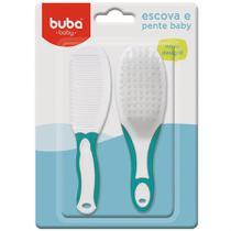 Escova e Pente Baby Azul 5236 Buba -