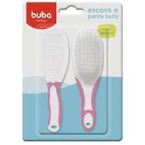 Escova e Pente Baby Rosa 5236 Buba -