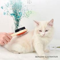 Escova Pet Desembaraça Dupla Face - Cães e Gatos - Tudo Patas