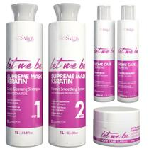 Escova Progressiva Let Me Be Supreme Liss + Kit Home Care Supreme -