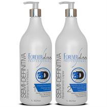 Escova Progressiva Semi Definitiva Power 3D - Kit 2X1000ML - Forever liss