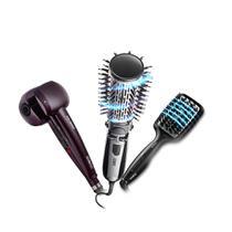 Escova Rotating Air Brush Diamond Brilliance + Escova Alisadora Diamond Brilliance Conair + Modelador De Cachos Hair Styler -