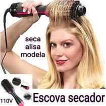 Escova secadora de cabelo, 2 em 1, um passo, secador de cabelo e volumizador negativo, escova de alisamento NV - Mkb