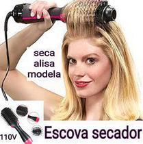 escova secadora quente ionica magnetica alisamento cabelo - AMVSHOP7