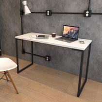 Escrivaninha 120cm Porto Espresso Móveis Branco/Preto -