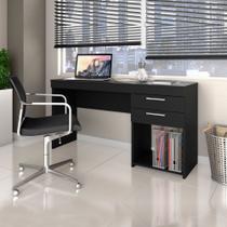 Escrivaninha 2 Gavetas Notável Office Preto -