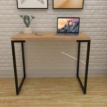 Escrivaninha 90cm Porto Espresso Móveis Natura/Preto -