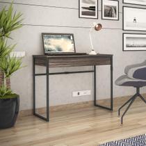 Escrivaninha Brisa 1 Gaveta - Ameixa/Preto - Brastubo