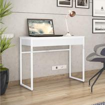 Escrivaninha Brisa 1 Gaveta - Branco - Brastubo