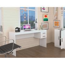 Escrivaninha com 2 Gavetas Office Plus Appunto - Branco -