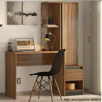 Escrivaninha com Armário 1 Porta 1 Gaveta Morada Demobile -