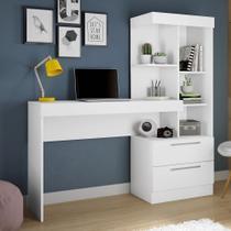 Escrivaninha com Estante Office 2 Gavetas Branco / Branco / Rosa NT2010 - Notável