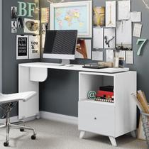 Escrivaninha com Tampo Giratório 1 Gaveta Carinho Albatroz Móveis Branco Textura -
