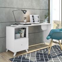 Escrivaninha com Tampo Giratório 1 Gaveta Carinho Albatroz Móveis Branco -