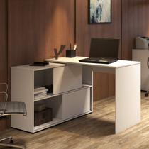 Escrivaninha em L 2 Portas de Correr Mingle Artany Branco -