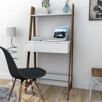 Escrivaninha estante Urban 1 Gaveta - Branco/Castanho - Appunto -