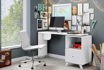 Escrivaninha Giratória Albatroz Branco Textura Carinho - Móveis albatroz