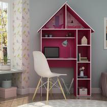 Escrivaninha Infantil Casinha Pink Ploc - Gelius -