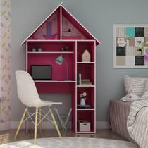 Escrivaninha Infantil Feminina - Gelius Casinha Pink -