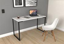Escrivaninha Mesa de Computador Home Office - Branco - 3 Pes Moveis