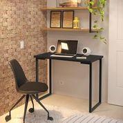 Escrivaninha Mesa de Computador Home Office - Preto - 3 Pes Moveis
