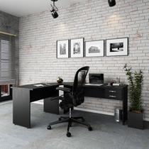 Escrivaninha Mesa De Escritório Em L 1,80x1,40m C/02gavetas - Compace