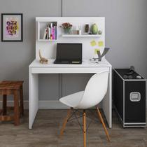 Escrivaninha/Mesa para Computador Com Painel First - Branco - Artany -