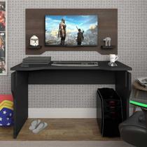 Escrivaninha/Mesa para Computador Gamer - Preto/Terrano - Artany -