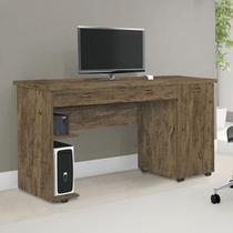 Escrivaninha Mesa Para Computador Quarto Escritório Ariel Amêndoa - Primus