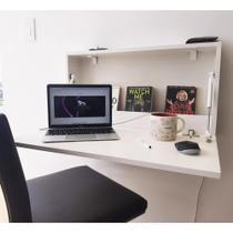 Escrivaninha Mesa Suspensa Dobrável 69 cm - Branco - Casaveri