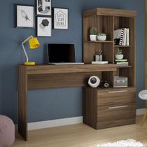 Escrivaninha Office Com Estante 2 Gavetas Nogal Trend - Notável -