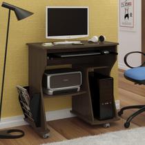 Escrivaninha para Computador 2 Prateleiras 160 Artely Imbuia/ Preto -