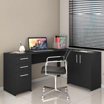Escrivaninha para Escritório em L 2 Gavetas Office Notável Preto -