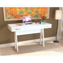 Escrivaninha para Notebook com 2 Gavetas Office Plus Appunto - Branco -
