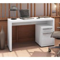 Escrivaninha para Notebook com Armário 1 Gaveta 1 Porta - Branco Brilho - Kappesberg