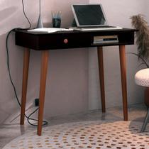 Escrivaninha Retrô Bras Imaza Móveis Preto/Cedro -