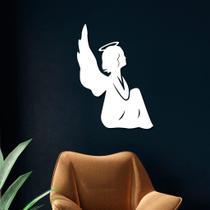Escultura de Parede em MDF Anjo Sentado - Ps Decor