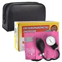 Esfigmomanômetro Aneróide Rosa Linha Premium (G-TECH) -