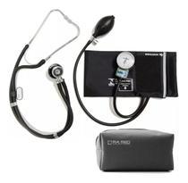 Esfigmomanometro Aparelho Medidor De Pressão Arterial + Esteto Duplo + Estojo - P. A. Med