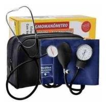 Esfigmomanômetro Aparelho Medidor De Pressão Arterial + Estetoscópio - Premium