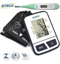 Esfigmomanômetro Medidor de Pressão Arterial Digital de Braço G-Tech + Termômetro -