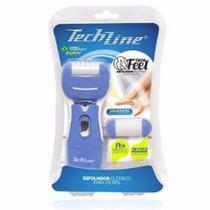 Esfoliador Techline Tech Feet Elétrico Para Pés À Pilhas -