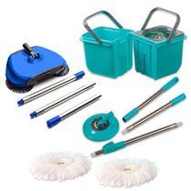 Esfregão Mop Limpeza Prática Premium e Vassoura Mágica - Vendasshop Utensilios De Limpeza
